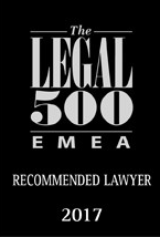 Recommended lawyer 2017 Legal 500